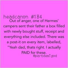 Hermes was probably in despair when he got the actually-paid-for gift (if you call it a gift).