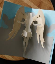 Kirigami Virgo Angel Popup Card Make Yourself by popupcardmaking