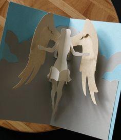 Kirigami Virgo Angel Popup Card Make Yourself by popupcardmaking