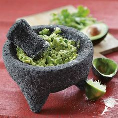 Looks cool on the table too! Molcajete