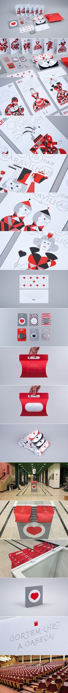 Popular Alice in Wonderland all about dance #identity #packaging #branding curated by Packaging Diva PD created via https://www.behance.net/gallery/Alice-no-Pais-das-Maravilhas/14469157