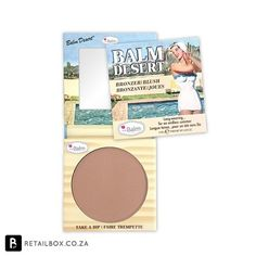 The Balm Desert is a matte, meaning it has no shimmer, which makes it great for contouring. It is also cool toned, mimicking the color of a natural shadow. Come stop in to learn more about this product.