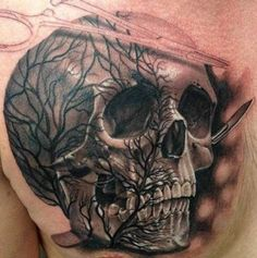 Skull Tattoos 23 - 80 Frightening and Meaningful Skull Tattoos