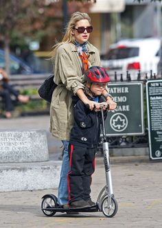 The Sweetest Celebrity Mom Moments: Kate Hudson and eldest son Ryder Robinson took a scooter ride together through NYC in April 2010.