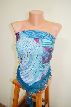 Pareo mint Scarf. Fashion Scarf. Multicolor Scarf. by TrendyScarf, $16.00