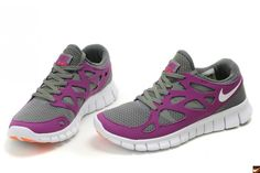Nike Free Run 2 Womens Running Shoes - Purple/Grey