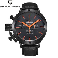 87.56$  Watch now - http://alicbn.worldwells.pw/go.php?t=32377154695 - Steel Watches men luxury brand Sport Watch quartz watches Leather black Military wristwatch chronograph Water Resistant 87.56$