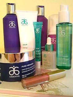 Review, Before/After Mascara Comparison Photos: Arbonne Pure Vibrance Hair Care, Calm Skincare, Hamptons Classic Makeup Palette