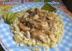 Csirkemell Sztroganoff módra Risotto, Food And Drink, Chicken, Meat, Ethnic Recipes, Foods, Beef, Food Food, Cubs