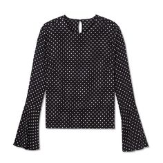 Piamita Stella Bell Sleeve Polka Dot Top