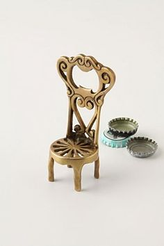 Seat-Of-Honor Bottle Opener from Anthropologie. gah! a tiny chair that opens beer. makes me happy.