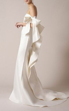 Off The Shoulder Bow Gown by SACHIN & BABI for Preorder on Moda Operandi