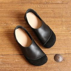 fe1d467e06d749 Genuine Leather Color Match Soft Flat Slip On Loafers. Flat ShoesRed ...