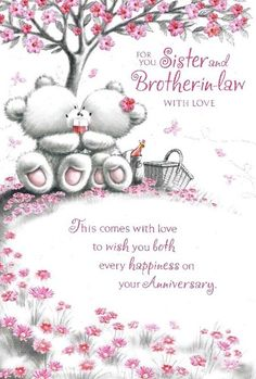 happy anniversary to my sister and bother in law | For You, Sister And Bother-in-Law With Love