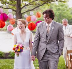 Great colors for an outdoor wedding