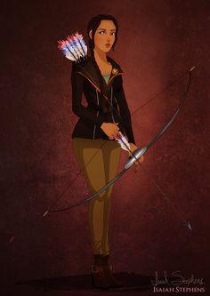 Pocahontas as Katniss Everdeen