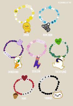 Bts Bangtan Boy, Bts Taehyung, Bts Jimin, Bts Jungkook, Bts Bracelet, Bracelets, Bts Merch, Bts Drawings, Bts Chibi