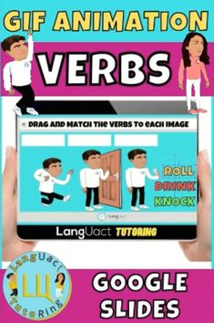 Are you looking for engaging verb activities for your early learners? Children love animation! These animated task cards are the perfect resource for your class or for distance learning. Find it in my TPT store. #tptsellers # #TpT #teacherspayteachersus #tptseller #teacherspayteachersstore #tptpins #tptstore #tptteachers #teacherseller Teacher Created Resources, Primary Resources, Autism Resources, Learning Resources, Teaching Ideas, English Resources, Education English, Elementary Education, English Lessons