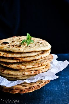 Soft Wheat Naan / Indian Flatbread ---Soft + Easy + Mess Free---