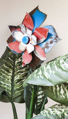 A Personal Favorite From My Etsy Shop Https://www.etsy.com · Tin Can Flowers Art FlowersMetal ArtworkGarden StakesYard ...