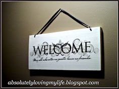 Loving Life: Upcycled Wall Decor With Dollar Tree Decal