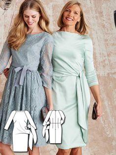 Side Gathered Dress 03/2016 #108B http://www.burdastyle.com/pattern_store/patterns/side-gathered-dress-032016?utm_source=burdastyle.com&utm_medium=referral&utm_campaign=bs-tta-bl-160229-BridesmaidDressesCollection108B