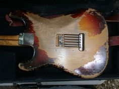 Vintage '58 Fender Stratocaster natural heavy relic body