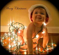 Cute At Home Christmas Photo Idea