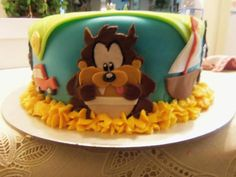 Baby looney tunes baby shower cake i made:)