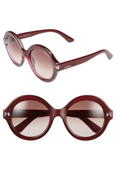Valentino 'Floating Rockstud' 54mm Round Sunglasses available at #Nordstrom