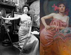 Czech Art Nouveau painter Alphonse Mucha - Beauty will save Eslava, Alphonse Mucha Art, Jugendstil Design, Art Nouveau Poster, Color Theory, Art Inspo, Art History, Illustration Art, Vintage