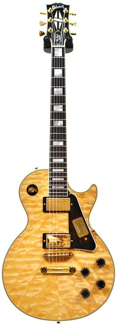 Buy the Gibson Custom Shop Les Paul Custom Quilt Ltd Natural 2014 401452 and get free delivery. Shop with the UK's largest guitar dealer today. Music Guitar, Cool Guitar, Playing Guitar, Guitar Pics, Acoustic Guitar, Gibson Les Paul, Gretsch, Fender Telecaster, Best Guitar Players