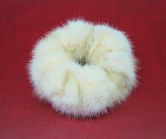 new real natural mink fur scrunchie/ponytail holder/hair band/bracelet