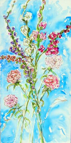 """Inspiration,"" Acrylic 48 x 24 by Andrea de Kerpely-Zak"
