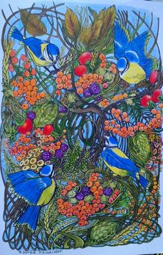 Manic Botanic Saxiba Mit Prismacolor