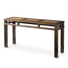Oka Rattan Console Table