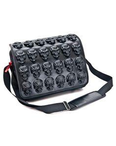 Black Skulls Latex Messenger Bag, just reduced to $124! We love Cult Appeal!