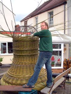 giant willow bell basket style sculpture by lee southall