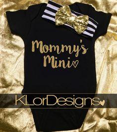 Mommy's Mini me onesie Baby Girl onesie baby shower by KLorDesigns