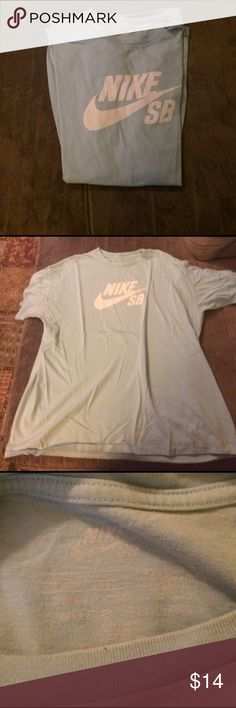 Men's Nike SB tee Gently worn, not exactly sure of size think this is a men's XL, light blue, Nike skateboarding Nike Shirts Tees - Short Sleeve