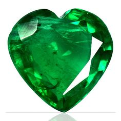 1.75 ct Natural Top Mined Green Emerald Heart Cut Zambia Unheated Christmas Sale