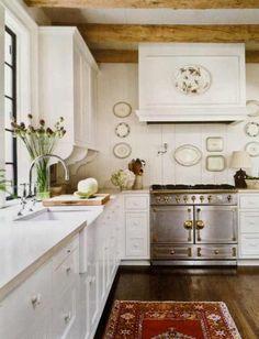 vintage stove white cabinet kitchen