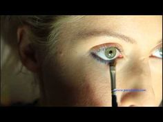 How to line the lower lash line with an eye pencil