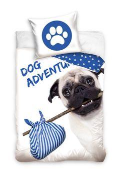 Posteľné obliečky s motívom psíka Facial Tissue, Licence, Dimensions, Duvet, Linens, Dog Baby, Slipcovers, Blue