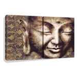 Giclee of Buddha Painting PRIDE 24x16inch (2 panels)