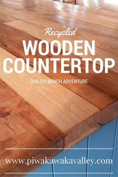 """To go with the rustic look of our house I decided to go with a recycled wooden benchtop. Here in New Zealand all of our old houses were built using beautiful native timber for the framing, flooring and cupboards. These houses are often getting demolished these days, making room for newer, warmer homes. I found … Continue reading """"DIY Recycled Wooden Countertops"""""""