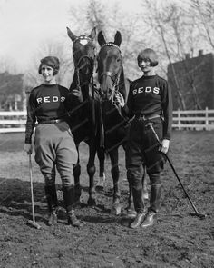Polo Ladies With Horses Vintage 8x10 Reprint Of Photo > Equestrian Ladies With Horses Vintage 8x10 Reprint Of Photo Here is a neat collectible featuring Polo ladies standing with 2 horses. Vintage 8x1