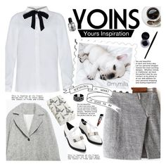 """""""Yoins"""" by mymilla ❤ liked on Polyvore featuring Pier 1 Imports, women's clothing, women, female, woman, misses, juniors, contest, gray and yoins"""