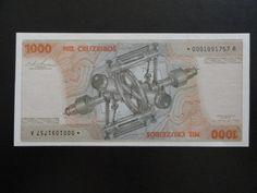 Brasil - Cédula de 1000 Cruzeiros Asterisco - Reposição - S/FE - 1978 - C153a - Simonsen - RARIDA
