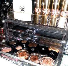 Acrylic makeup organizer Cosmetic Storage, Makeup Organization, Beauty Makeup, Cosmetics, Nails, Finger Nails, Ongles, Nail, Gorgeous Makeup